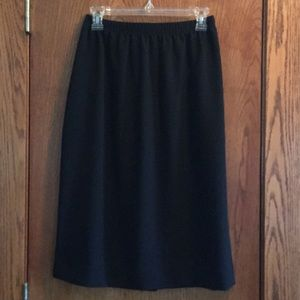 Black gauze skirt